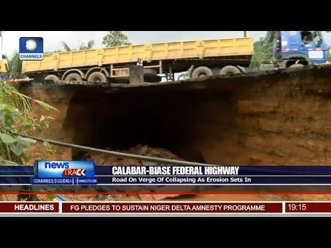 Calabar-Biase Road On Verge Of Collapsing As Erosion Sets In
