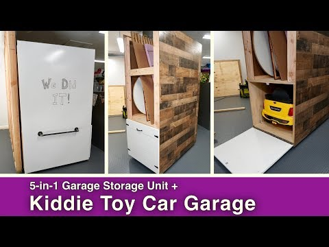 5-in-1 Garage Storage Unit// Kiddie Car Garage