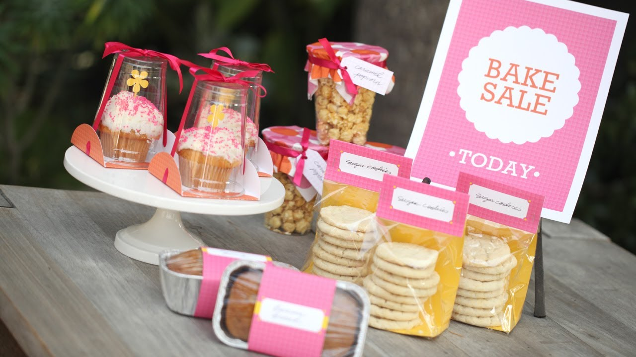 bake sale packaging ideas