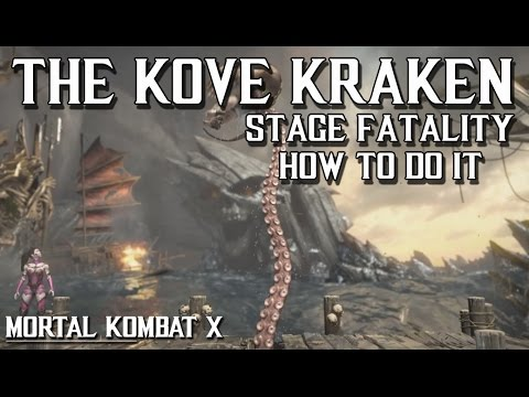 MKX: THE KOVE KRAKEN Stage Fatality and how to do it(PLEASE READ DESCRIPTION)