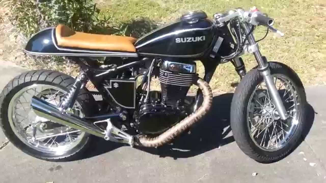 suzuki savage cafe racer youtube. Black Bedroom Furniture Sets. Home Design Ideas