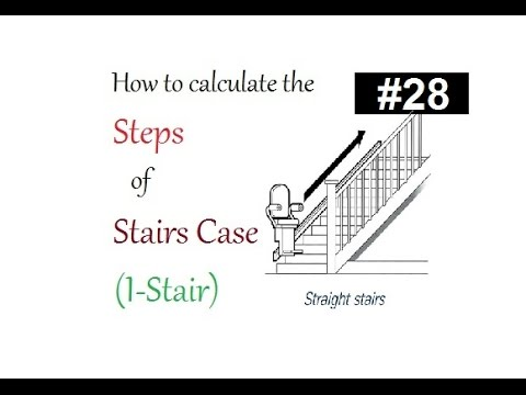 How to calculate (I-stair) straight staircase steps in Urdu/Hindi