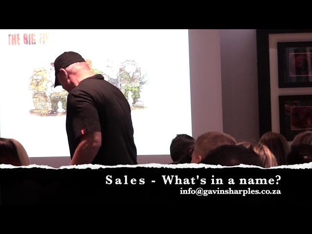 Sales: What's in a name?