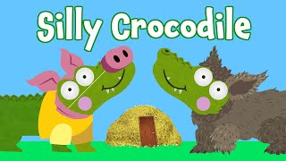 Three Little Pigs Cartoon | Silly Crocodile Fairy Tales & Bedtime Stories for Kids | 3 Little Pigs