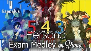 Persona 3, 4 & 5: Exam Medley ~ Piano Arrangement //Performance + Synthesia + Sheet Music