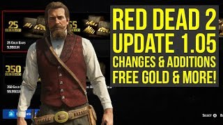 Red Dead Redemption 2 Update 1.05 - NEW FREE Gold Bars, New Content Detailed & More! (RDR2 Update)