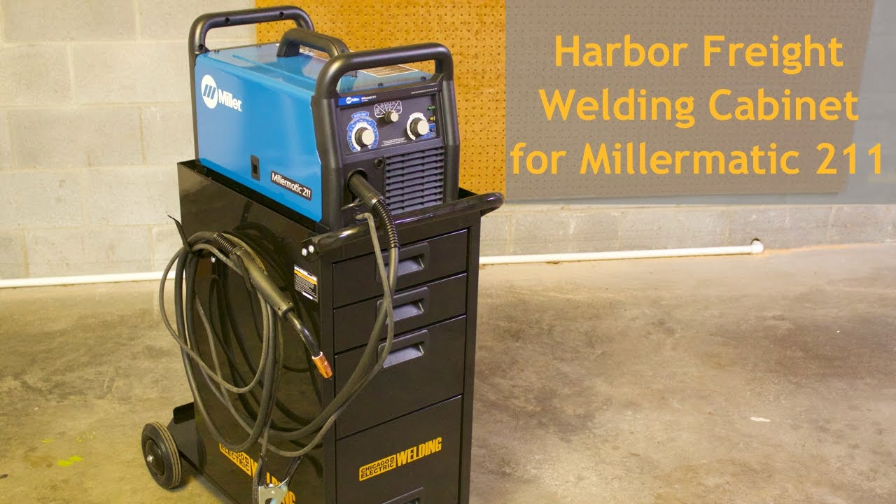 Review: Harbor Freight Welding Cabinet for Millermatic 211 - YouTube