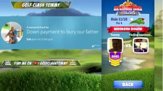 Golf Clash stream, Weekend round - Back 9, Do I have a shot for the gold?