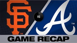 Cervelli, Duvall back Fried in win | Giants-Braves Game Highlights 9/21/19