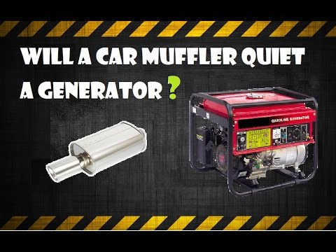 Quiet a generator with an automotive muffler