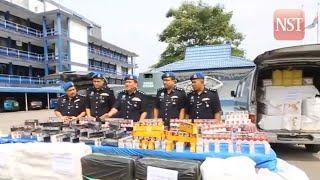 Marine police foil cigarette smugglers