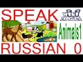 LEARN RUSSIAN WORDS FOR ANIMALS, Lesson: Animals 1   RUSSIAN 0: Beginners