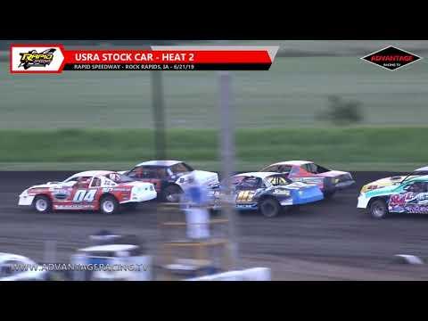 Stock Car Heats - Rapid Speedway - 6/21/19