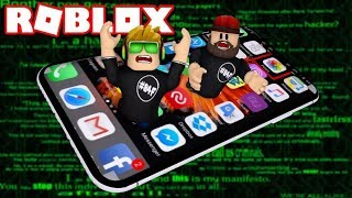 ROBLOX ESCAPE THE IPHONE X OBBY | OH NO WE ARE TRAPPED INSIDE CELL PHONE!!!