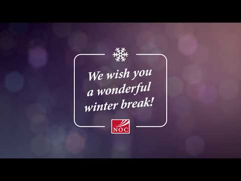 We wish you a wonderful winter break!  ~Northern Oklahoma College