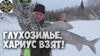 Зимняя рыбалка 2020 Ловим хариуса в глухозимье на мормышку Республика Коми
