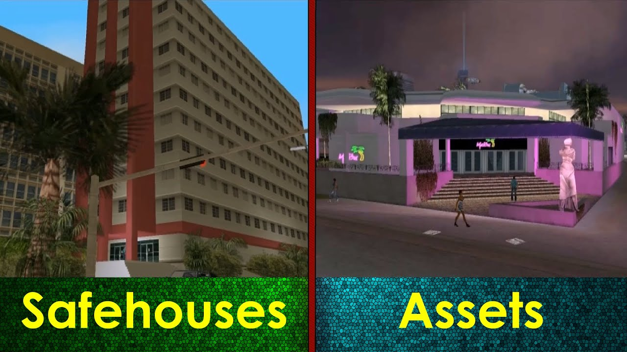 GTA Vice City  All Safehouses  Assets  YouTube