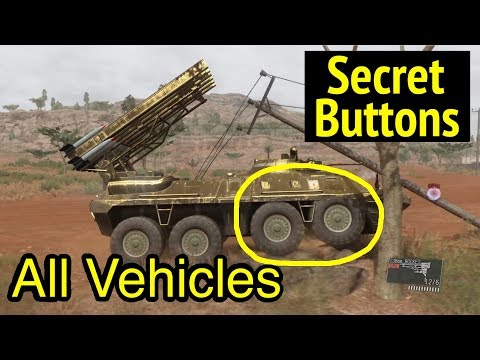 All Vehicles Showcase and Hidden Buttons: Metal Gear Solid V: Phantom Pain (MGS5)