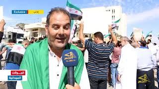 مظاهرة لطلبة جامعة إدلب تأكيداً على استمرار الثورة