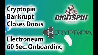 Cryptopia Exchange Closes. - New Electroneum App update !