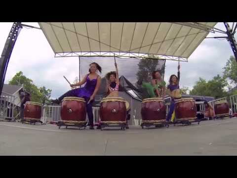 COBU Asian Drums at the 2015 Woodstock Drum Boogie festival