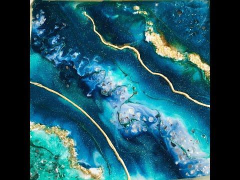 Tutorial Resin Geode Art/ Geodeart/ Resinart/ Epoxy Resin/ Kunstharz/ Epoxidharz