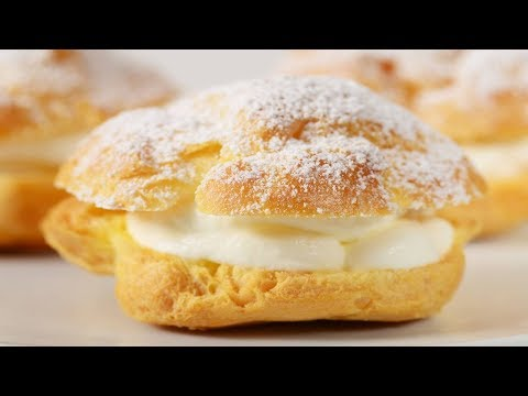 Cream Puffs Recipe Demonstration - Joyofbaking.com - YouTube