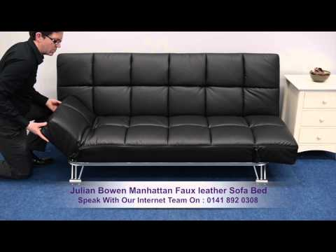 Julian Bowen Manhattan Faux Leather Sofa Bed