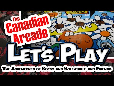Lets Play - Data East 1993 - The Adventures of Rocky and Bullwinkle and Friends Pinball