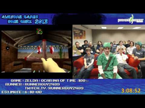 Legend of Zelda: Ocarina of Time Speed Run 100% in 5:44:10 b