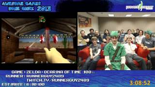 Legend of Zelda: Ocarina of Time Speed Run 100% in 5:44:10 by RunnerGuy2489 (AGDQ 2013) N64