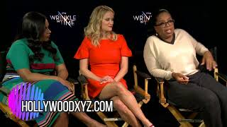 Oprah Winfrey Reese Witherspoon & Mindy Kaling A Wrinkle in Time Interview