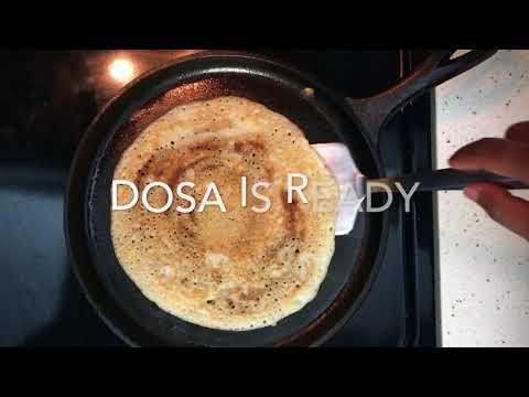 Making Dosa On Lodge Cast Iron Griddle/Skillet