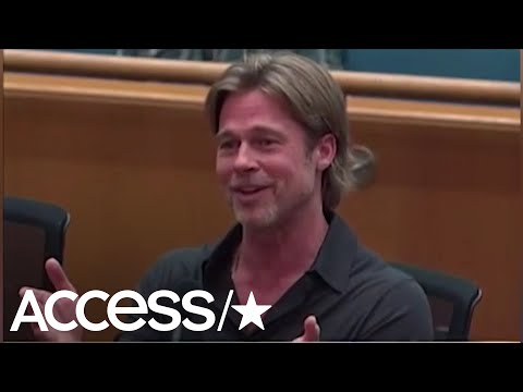 Watch Brad Pitt Hilariously Get Cut Off Mid-Speech At An LA County Board Meeting | Access