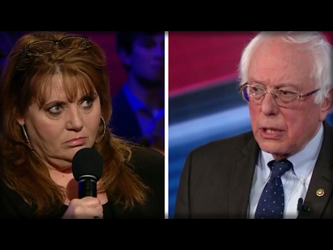 OWNER TELLS BERNIE HER BUSINESS CAN'T AFFORD OBAMACARE... HIS ANSWER LEAVES HER STUNNED