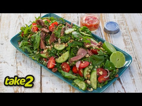 Thai Beef Salad Recipe with Baby Kale