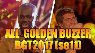 ALL Golden Buzzer Performances Britain's Got Talent 2017(series 11)GTF