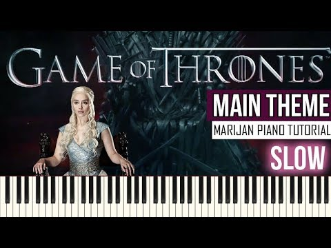 How To Play: Game Of Thrones - Main Theme | SLOW Piano Tutorial + Sheets