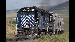 AWESOME Montana Rail Link Action! Livingston, Montana