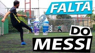 APRENDA A BATIDA DE FALTA DO MESSI (Lances efetivos de futebol) {BZK}