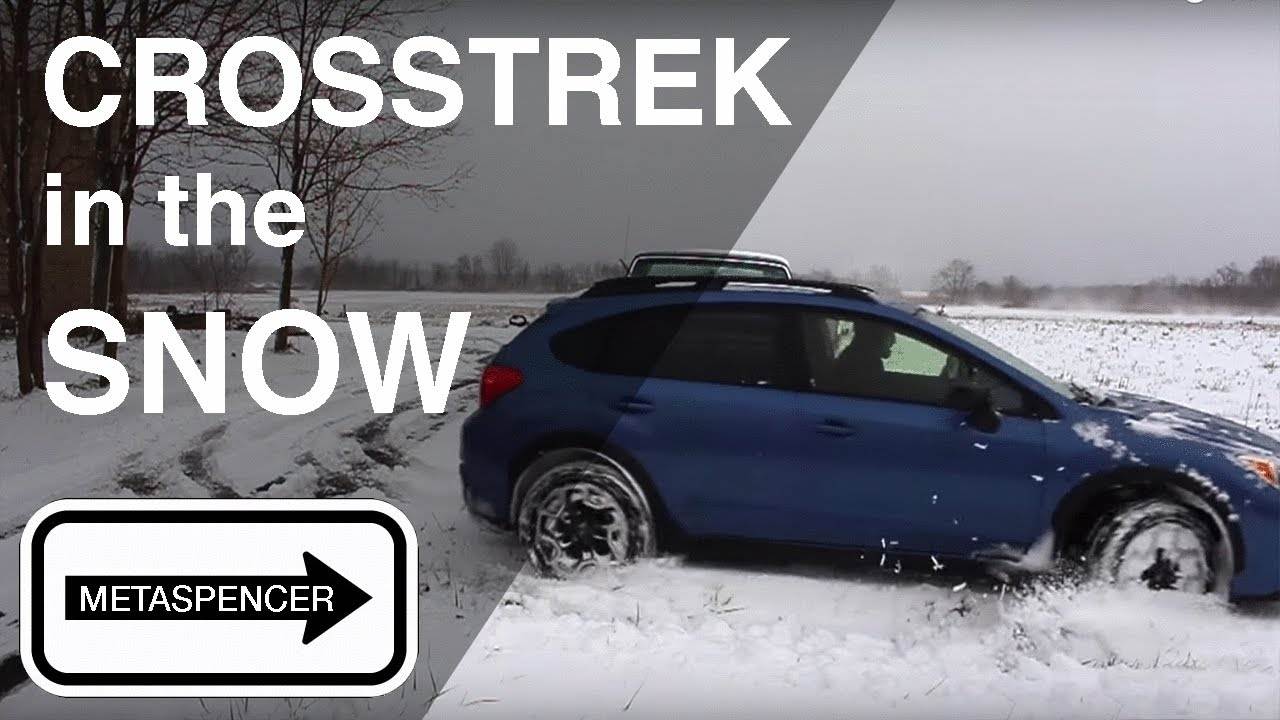 Subaru Crosstrek In The Snow 2016