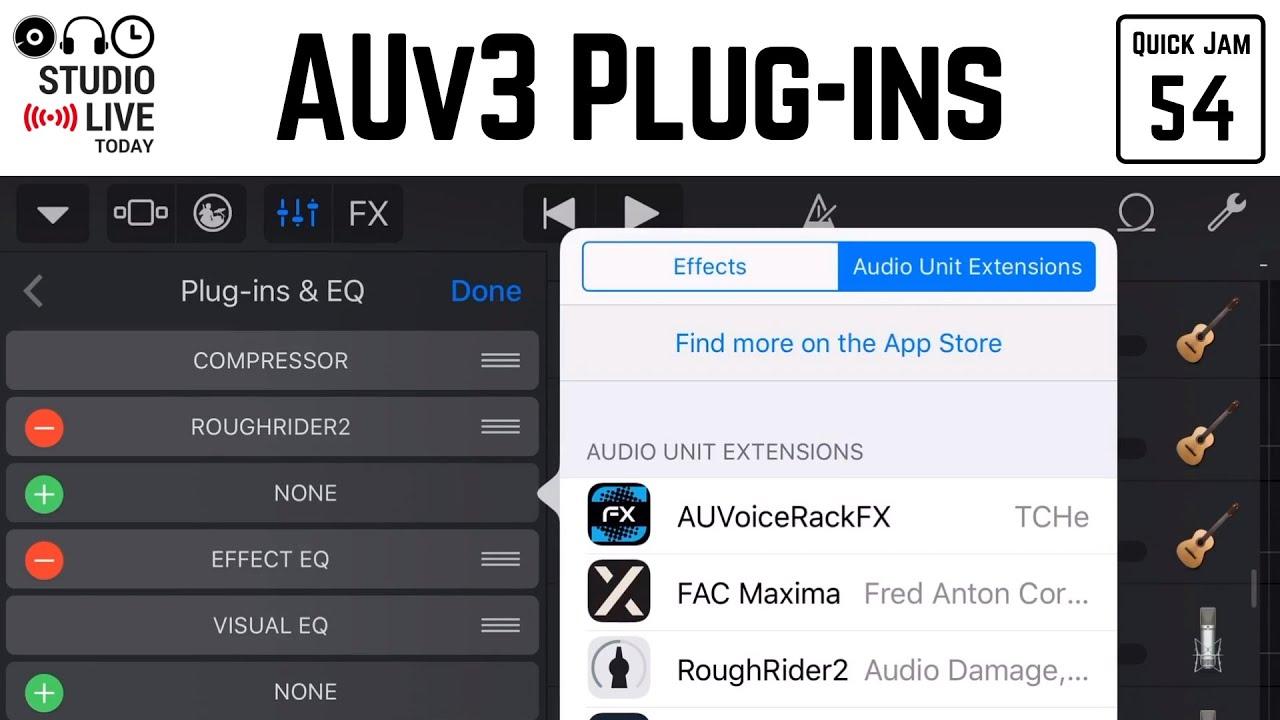 How to use Audio Unit (AU) plug-ins in GarageBand iOS (iPad/iPhone)