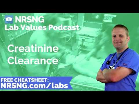 Creatinine Clearance Nursing Considerations, Normal Range, Nursing Care, Lab Values Nursing
