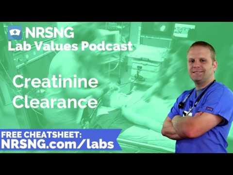 Creatinine Clearance Nursing Considerations, Normal Range, Nursing Care, Lab Values Nursing