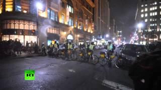 Deuxième nuit de manifestations étudiantes à Montréal