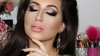 rose gold glam cat smokey eyes makeup tutorial   melissa samways