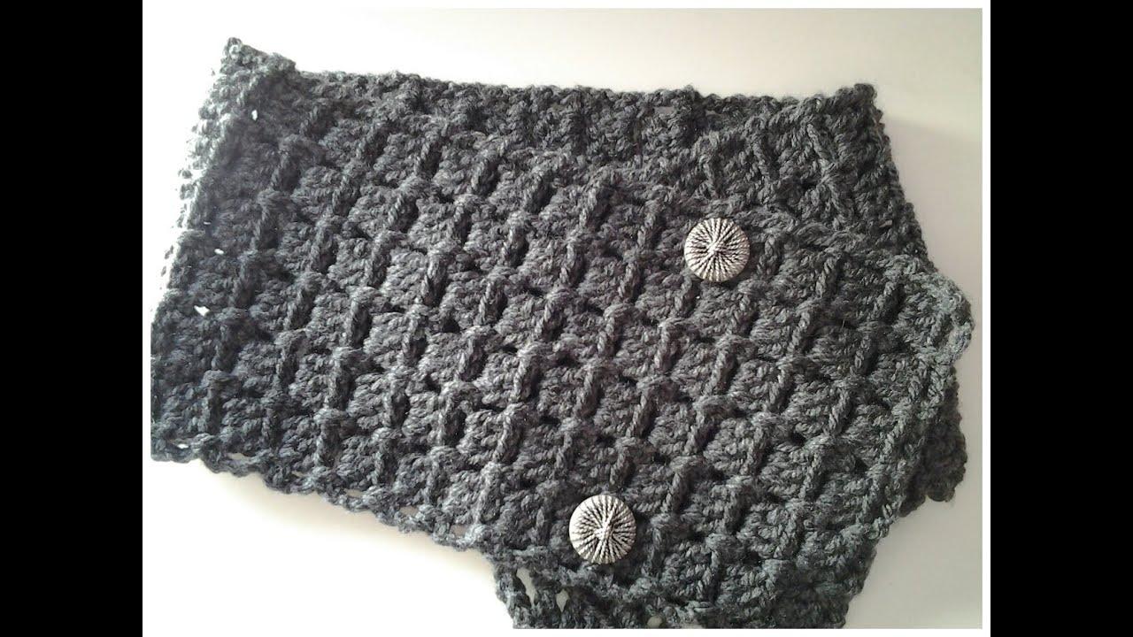 Bufanda con botones muy fácil a crochet #tutorial # DIY - YouTube