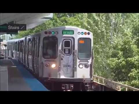 CTA Green Line train from Randolph/Wabash to 63rd/Ashland terminal 3 (06-08-16)