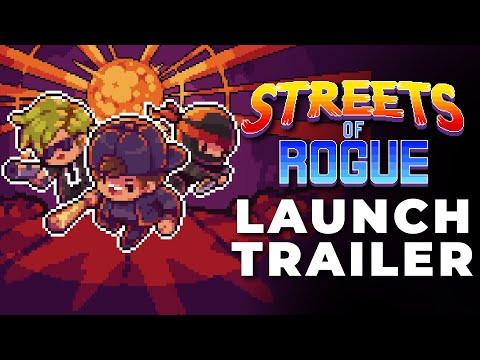 Rogue-lite co-op stealth shooter RPG Streets of Rogue is here!