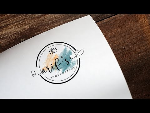 How To Design A Photography Logo In Photoshop cc 2017/2018